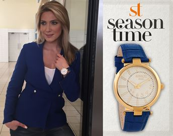 Ατσάλινο ρολόι Season Time 6-3-1-8 Μπλε Χρυσό Andresa Series