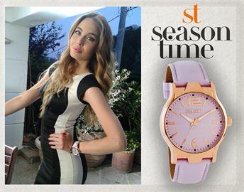 Ρολόι Season Time 6-1-32-1 Μωβ Analisa Series