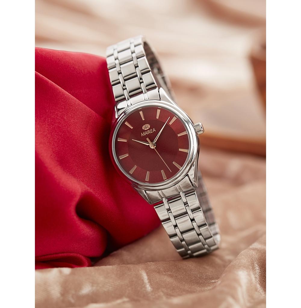 Ρολόι Γυναικείο Marea B21185-4 Ασημί-Μπλέ