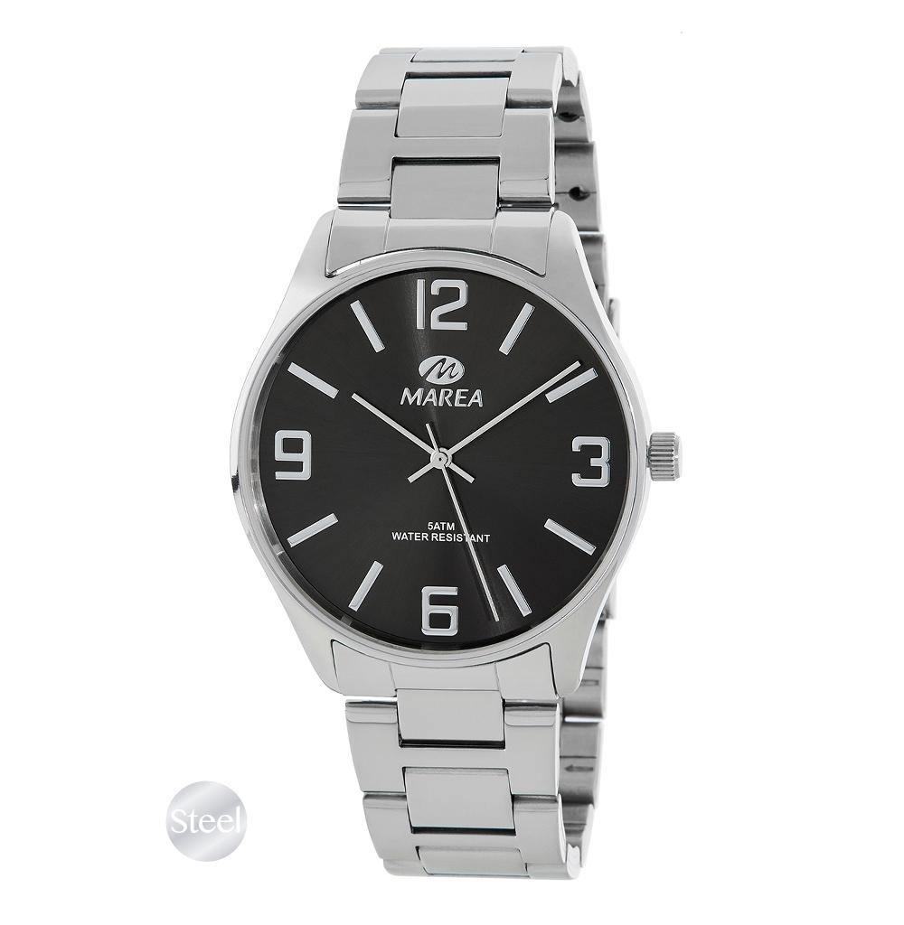 Ρολόι Ανδρικό Marea B36146-1 Ασημί-Μαύρο