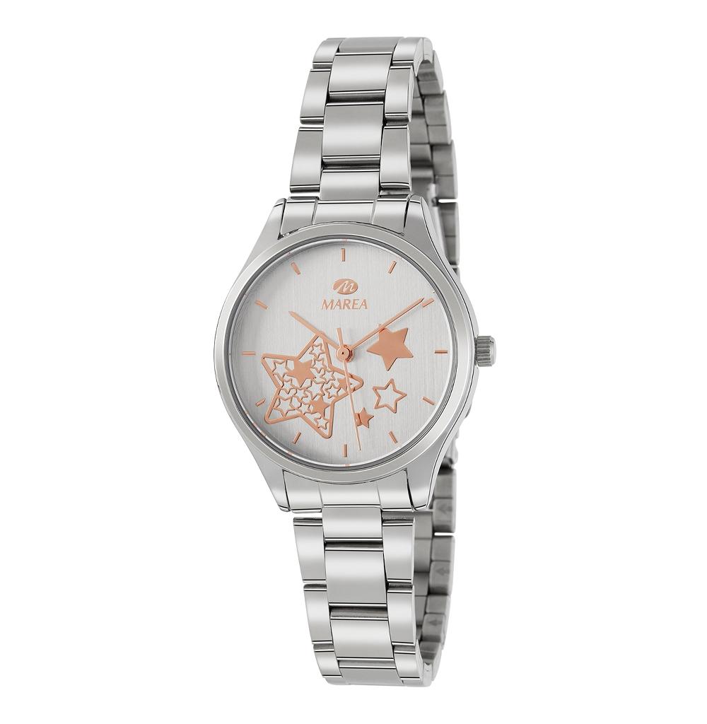 Ρολόι Γυναικείο Marea B41240-2 Ασημί(Αστέρι)