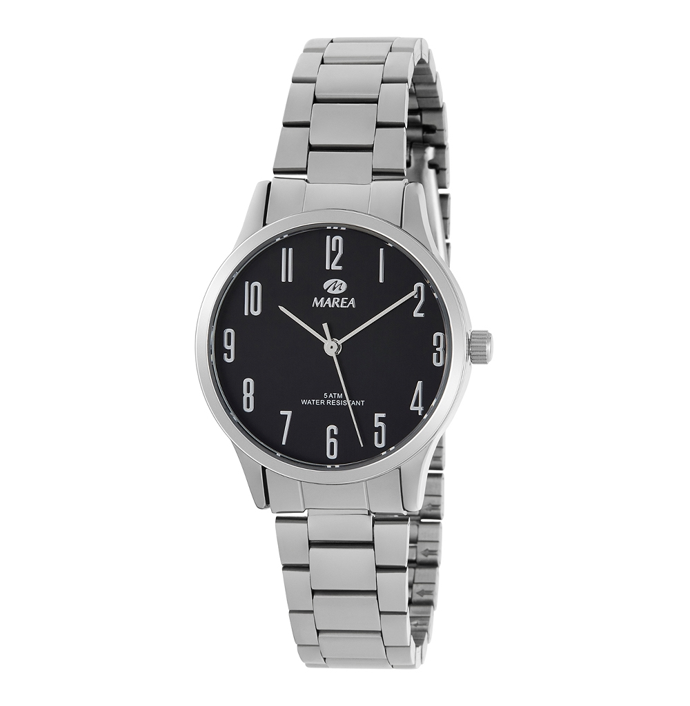 Ρολόι Γυναικείο Marea B41242-2 Ασημί-Μαύρο