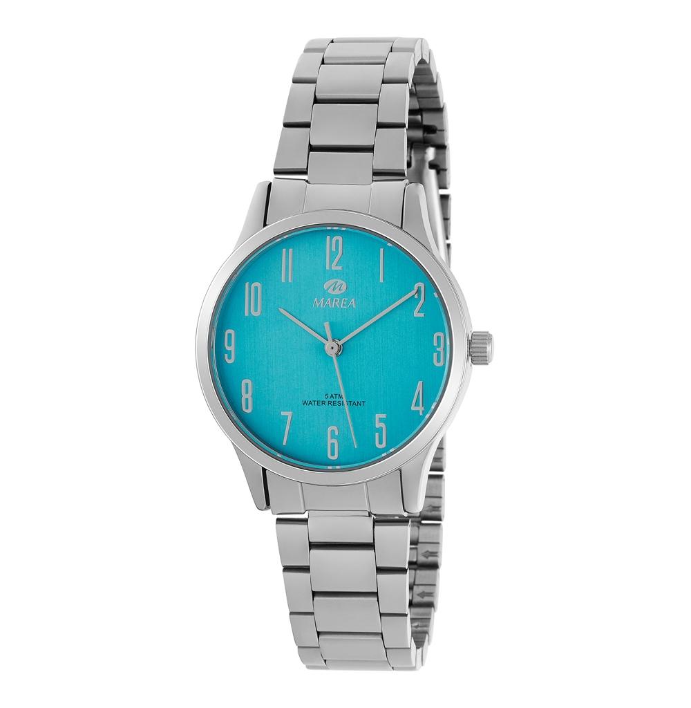 Ρολόι Γυναικείο Marea B41242-3 Ασημί-Μπλε