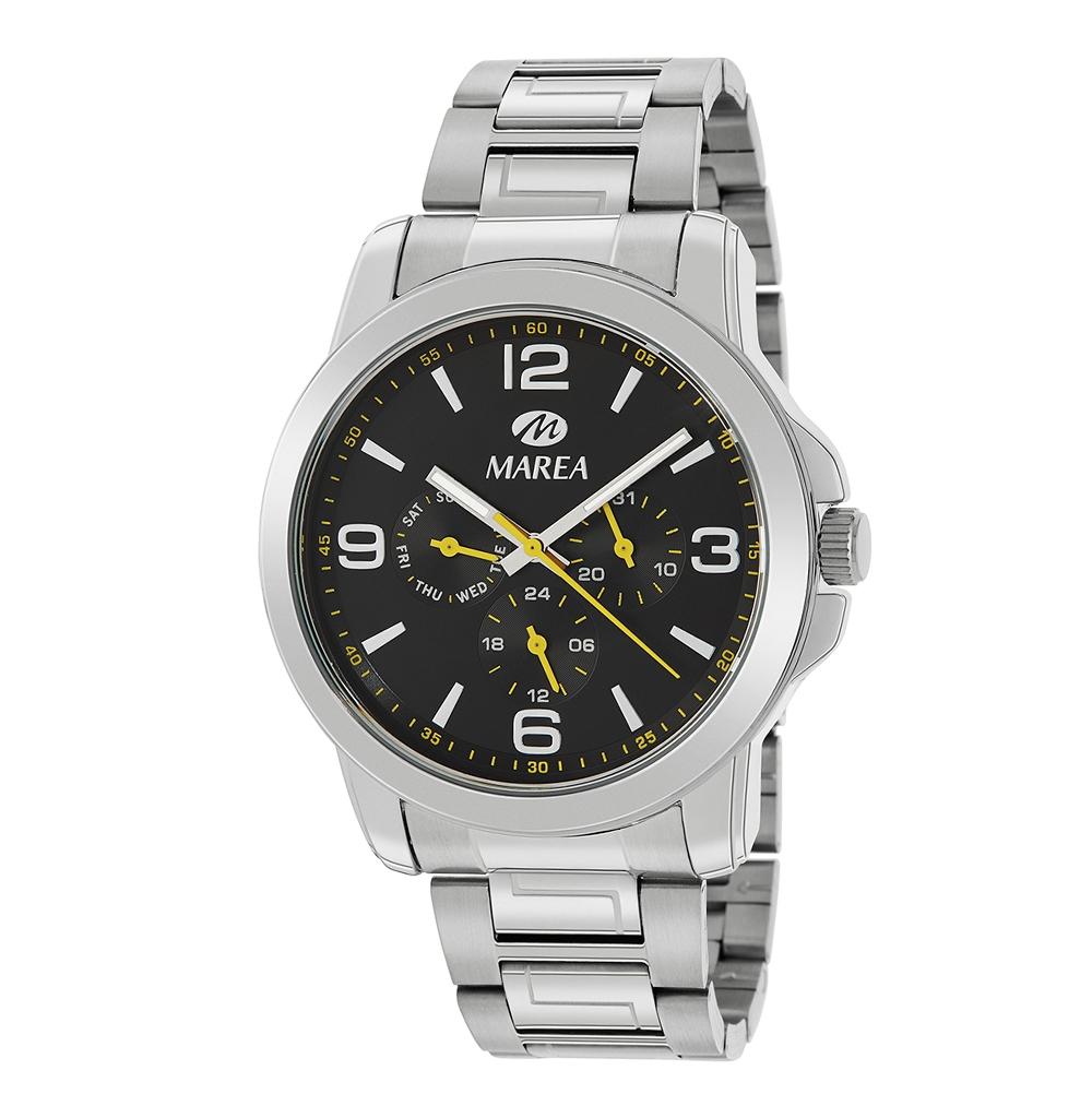 Ρολόι Ανδρικό Marea B41259-1 Ασημί-Μαύρο