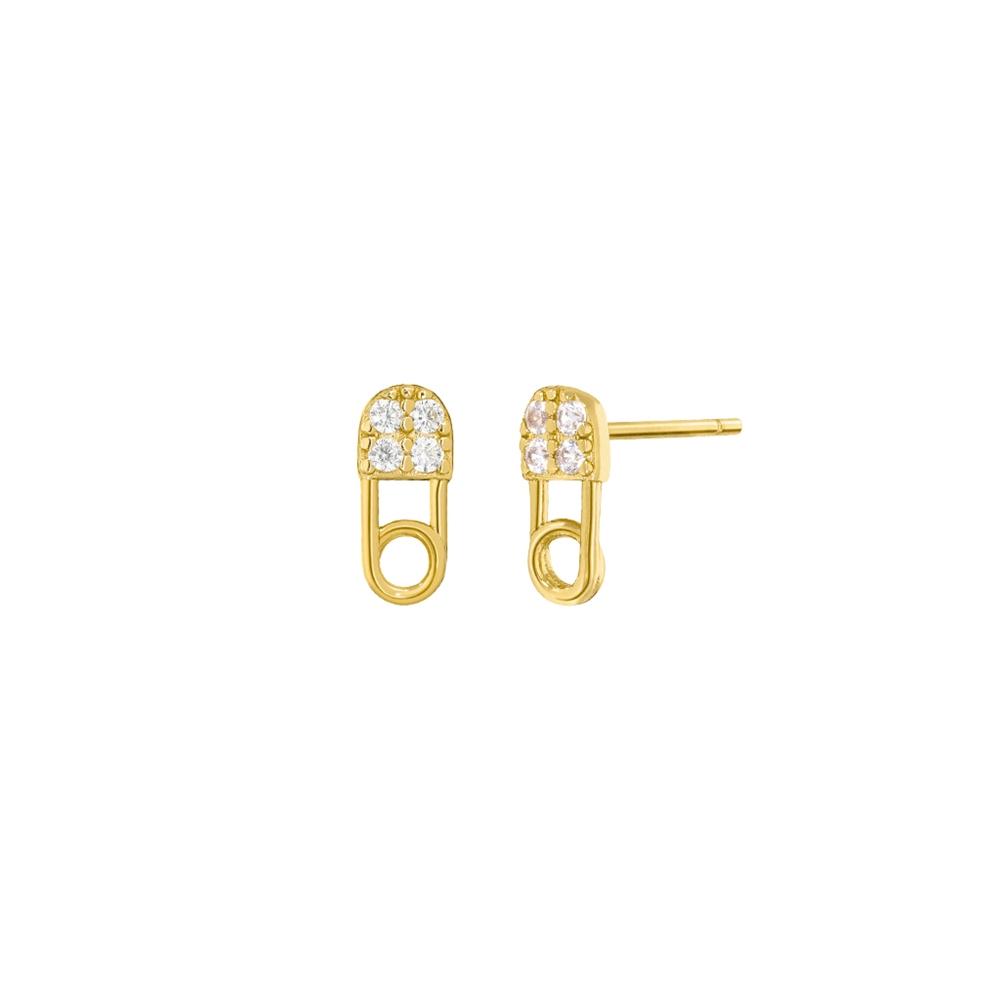 Ασημένια σκουλαρίκια Marea Gold D02001-AC