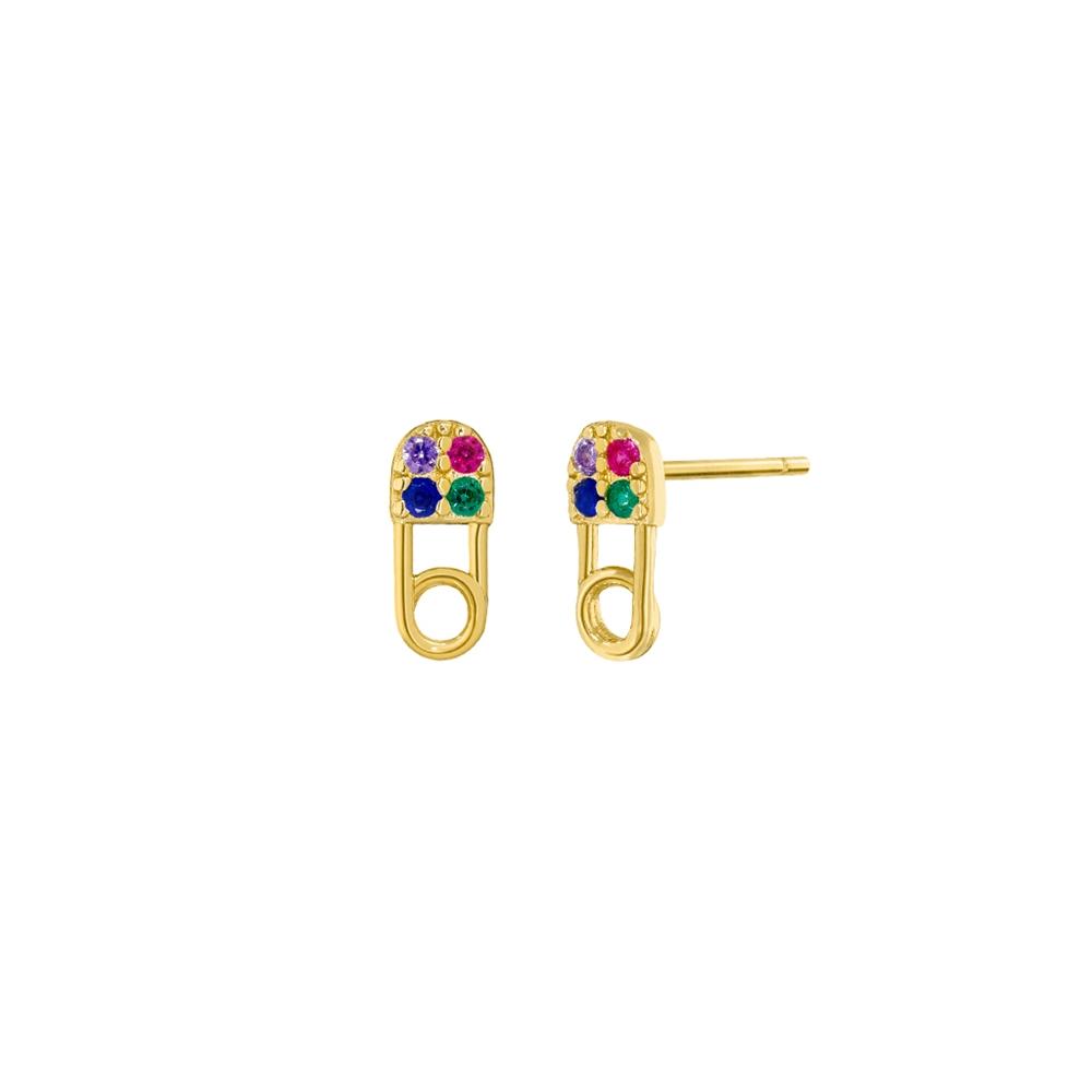 Ασημένια σκουλαρίκια Marea Gold D02001-AD