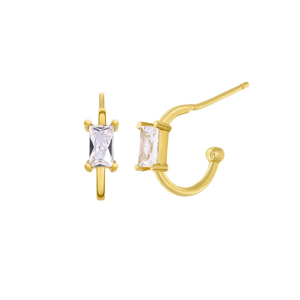 Ασημένια σκουλαρίκια Marea Gold D02001-AM