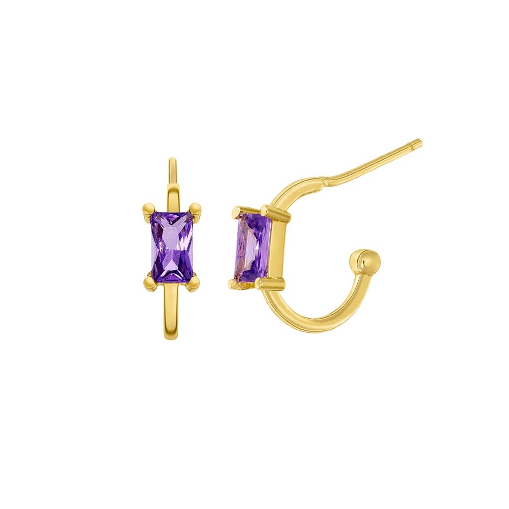 Ασημένια σκουλαρίκια Marea Gold D02001-AN