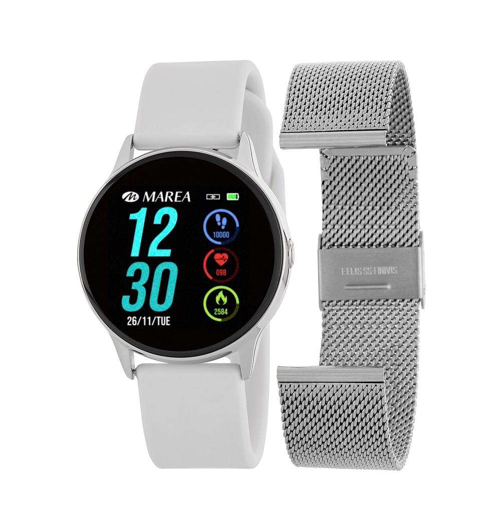 Smart Watch Marea B58001-3 Άσπρο