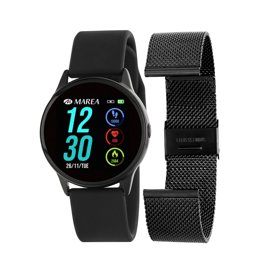 Smart Watch Marea B58001-1 Μαύρο