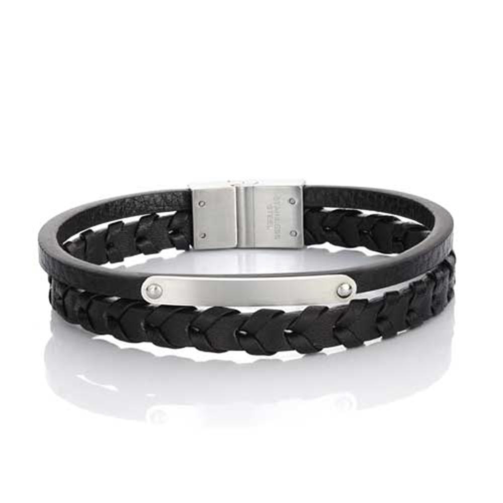 Men bracelet Season 2121-1 Black-Silver