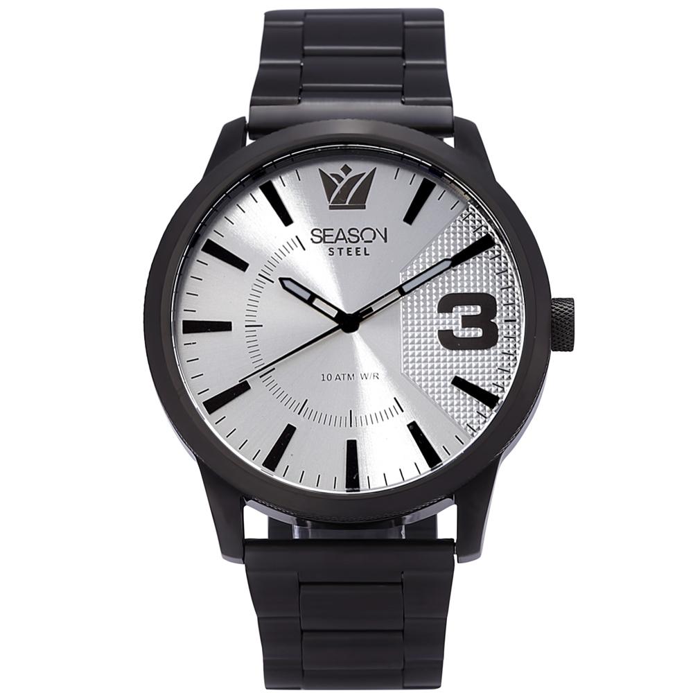Stainless steel Watch Season 6433-3 Black-Silver Monte Carlo Series