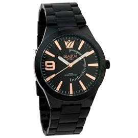 Ατσάλινο ρολόι Season Time 5-2-19-2 Μαύρο-RG Prestige Steel Series