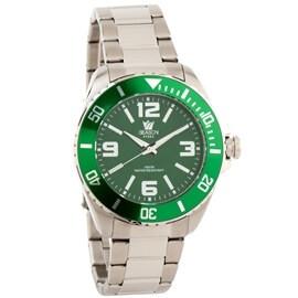 Ατσάλινο ρολόι Season Time 5-2-16-2 Πράσινο Yacht Steel Series