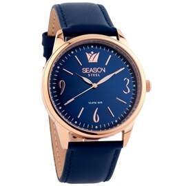 Ατσάλινο ρολόι Season Time 6-3-4-28 Μπλε Elegant Steel Series