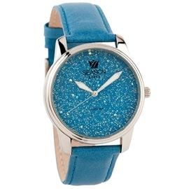 Ατσάλινο ρολόι Season Time 6-3-14-1 Γαλάζιο Dazzling Steel Series