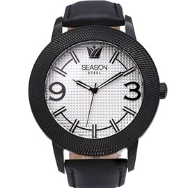 Ανδρικό Ρολόι Season Steel 233-6 Μαύρο