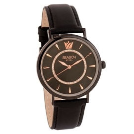Stainless Steel Watch Season 6317B-3 Black Pearl Series