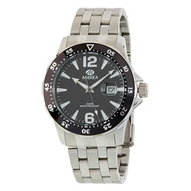 Ρολόι Ανδρικό Marea B36145-1 Ασημί-Μαύρο