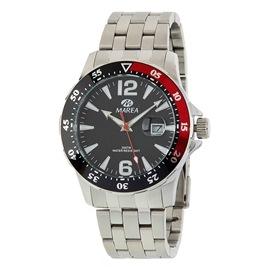 Ρολόι Ανδρικό Marea B36145-2 Ασημί-Κόκκινο