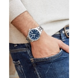 Ρολόι Ανδρικό Marea B36148-3 Ασημί-Μπλε