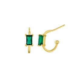 Ασημένια σκουλαρίκια Marea Gold D02001-AO