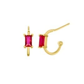 Ασημένια σκουλαρίκια Marea Gold D02001-AP