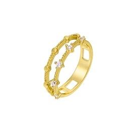 Ασημένιο δαχτυλίδι Marea Gold D02006-AQ