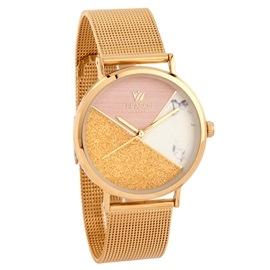 Ατσάλινο ρολόι Season 6417-5 Χρυσό Glam Series