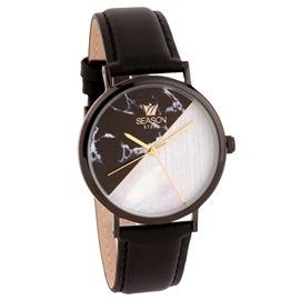 Ατσάλινο ρολόι Season 6317-2 Μαύρο Glam Series