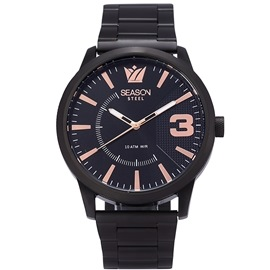 Stainless steel Watch Season 6433-1 Black Monte Carlo Series