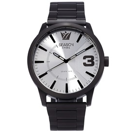 Stainless steel Watch Season 6433-3 Black-Silver Monte Carlo Series