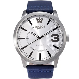 Stainless steel Watch Season 6333-10 Blue-Silver Monte Carlo Series