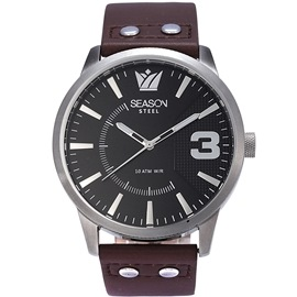 Stainless steel Watch Season 6333-2 Brown Monte Carlo Series