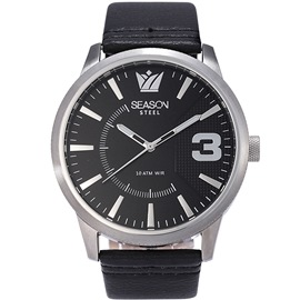 Stainless steel Watch Season 6333-9 Black Monte Carlo Series