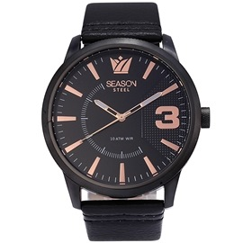 Stainless steel Watch Season 6333-8 Black Monte Carlo Series