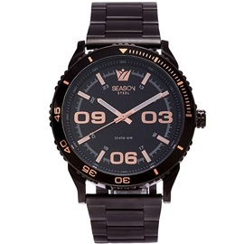Stainless steel Watch Season 6434-2 Black Monaco Series