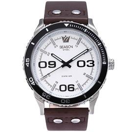 Stainless steel Watch Season 6334-5 Brown Monaco Series