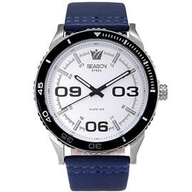 Stainless steel Watch Season 6334-6 Blue Monaco Series