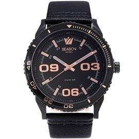 Stainless steel Watch Season 6334-4 Black Monaco Series