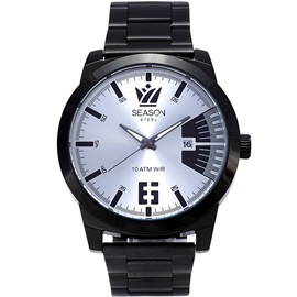 Stainless steel Watch Season 242-3 Black-Silver Madness Series